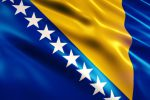 Bosnia and Herzegovina Flag Animation (Close-up)